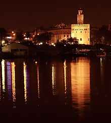 Torre del oro at Night Sevilla